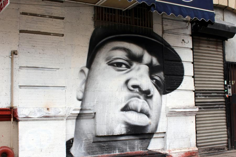 Key food mural of rap legend could arrive the blog for Biggie smalls mural brooklyn